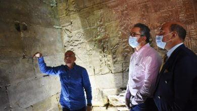 """""""وزير السياحة المصري""""يفتتح معبد """"إيزيس"""" بعد 150 عامًا من اكتشافه_صحيفة هتون"""