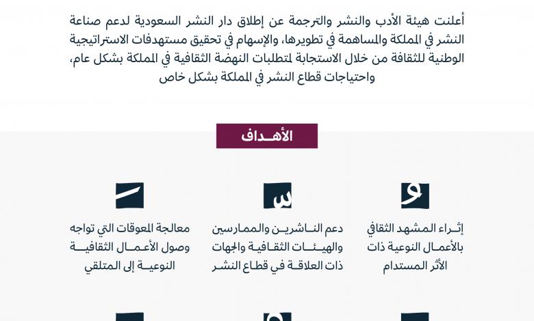 """""""هيئة الأدب"""" السعودية تطلق """"دار نشر السعودية"""" تعزيزا للمشهد الثقافي بالمملكة"""