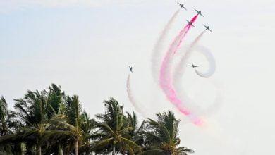 محافظة جدة تحتفي باليوم الوطني بالطائرات الملونة في سمائها_الديرة نيوز